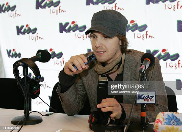 Gavin DeGraw during KISS 108 FM KISS Concert 2005 Interview Room at Tweeter Center in Mansfield Massachusetts United States