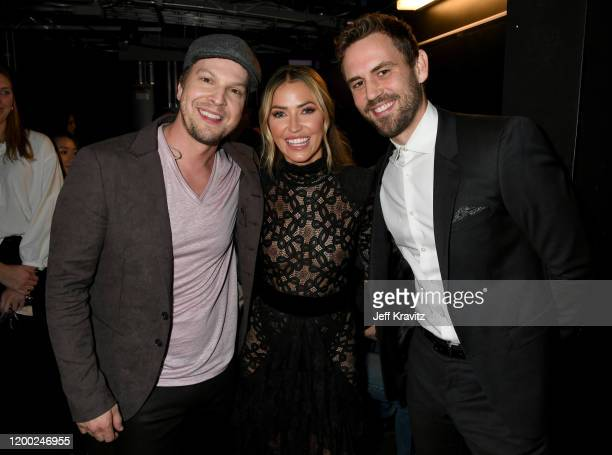 Gavin DeGraw Kaitlyn Bristowe and Nick Viall attend the 2020 iHeartRadio Podcast Awards at the iHeartRadio Theater on January 17 2020 in Burbank...
