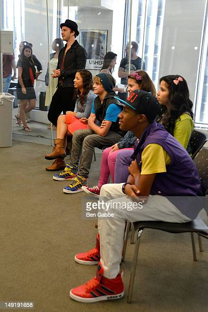 Gavin DeGraw Kiana Brown and the KIDZ BOP Kids attend the KIDZ Star USA Live Audition event at SiriusXM Studios on July 24 2012 in New York City