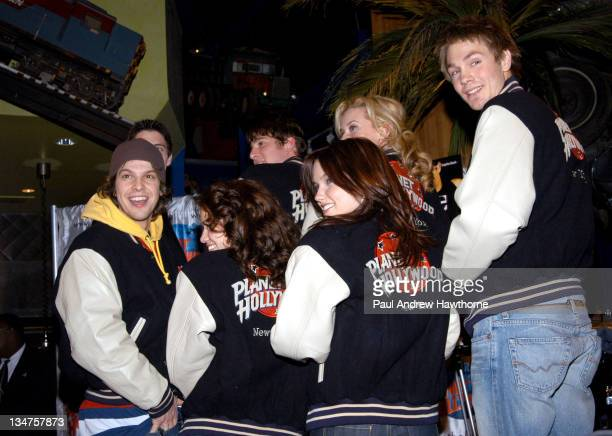 """Gavin Degraw, left, and cast members of """"One Tree Hill"""""""
