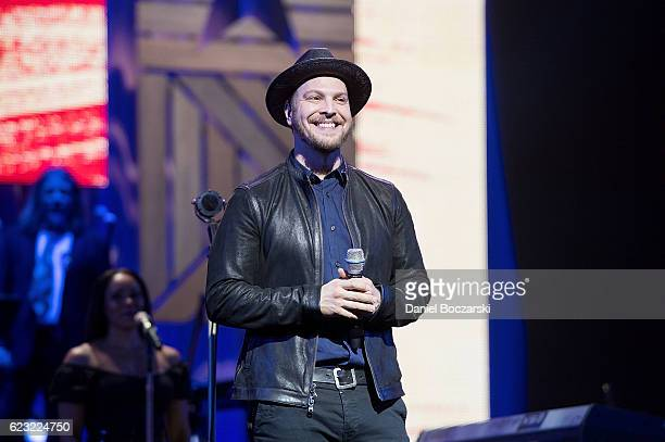 """Gavin Degraw performs at the """"America Salutes You"""" Concert Honoring Military, Veterans, And Their Families at Rosemont Theatre on November 12, 2016..."""