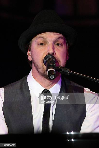 Gavin DeGraw performs at The Greek Theatre on August 19 2012 in Los Angeles California