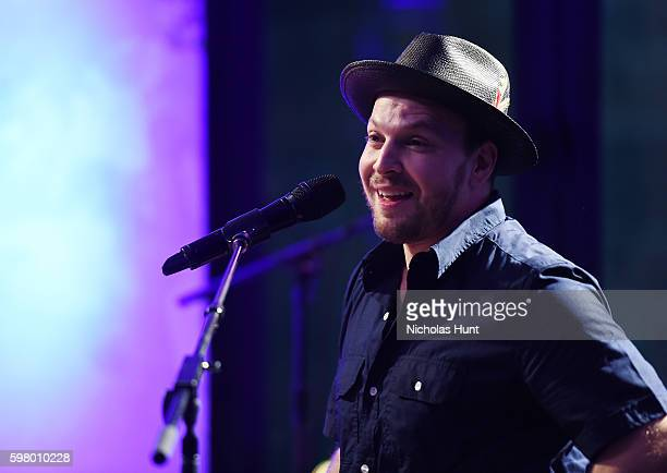 Gavin DeGraw performs during AOL Build Presents Discussion with Gavin DeGraw about his New Album Something Worth Sating at AOL HQ on August 30 2016...