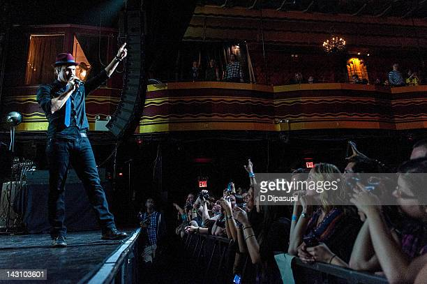 Gavin DeGraw performs on stage during the 3rd annual Origins Rocks Earth Month concert at Webster Hall on April 18 2012 in New York City