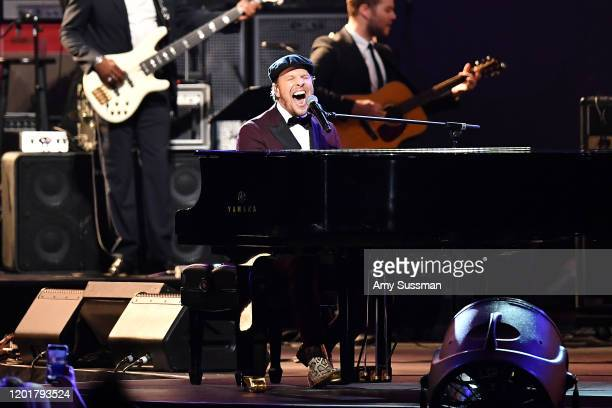 Gavin DeGraw performs onstage during MusiCares Person of the Year honoring Aerosmith at West Hall at Los Angeles Convention Center on January 24 2020...