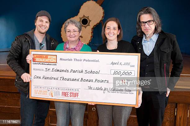 Gavin DeGraw Valerie Gager Kerry Voytas and Scott Goldman attend the GRAMMY Foundation Labels for Education StarPowered Music Day at St Edmund's...