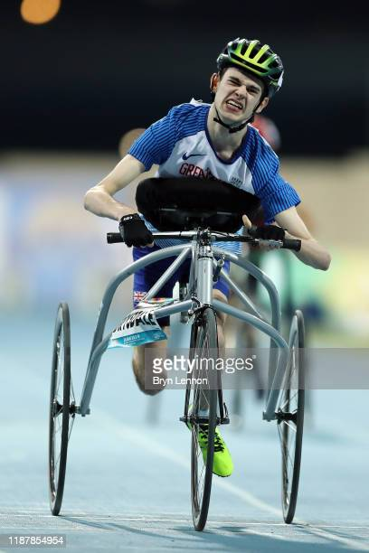 Gavin Drysdale of Great Britain in action in the Men's 100m RR3 during Day Nine of the IPC World Para Athletics Championships 2019 Dubai on November...