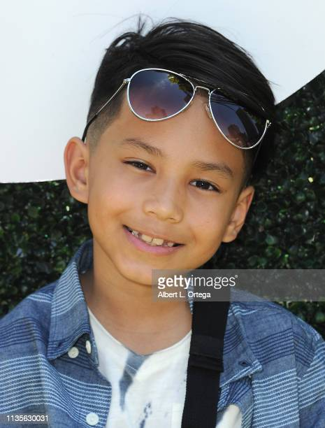 Gavin Fabian arrives for Clubhouse Kidchella held at Pershing Square on April 6 2019 in Los Angeles California