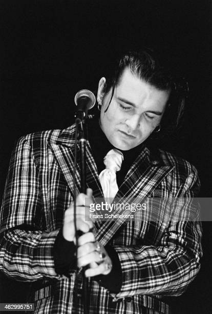 Gavin Friday, vocal, performs at Carre on 25th March 1990 in Amsterdam, the Netherlands.