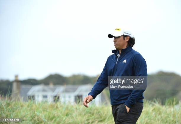 Gavin Green of Malaysia on the sixteenth hole during Day two of the Alfred Dunhill Links Championship at Carnoustie Golf Links on September 27 2019...