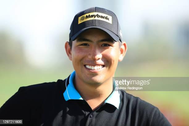 Gavin Green of Malaysia smiles during practice ahead of the Abu Dhabi HSBC Championship at Abu Dhabi Golf Club on January 19, 2021 in Abu Dhabi,...