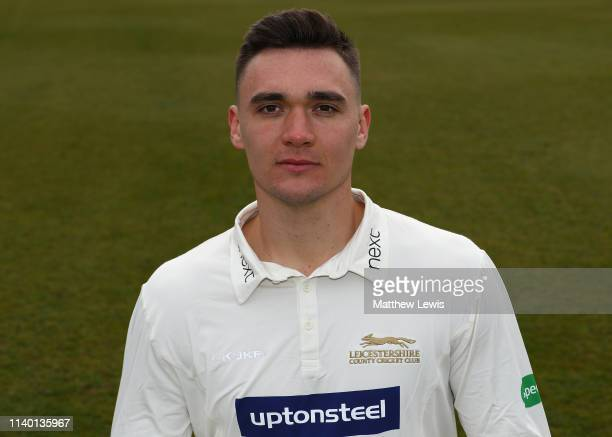 Gavin Griffiths of Leicestershire CCC pictured during the Leicestershire CCC Photocall at Grace Road on April 03 2019 in Leicester England