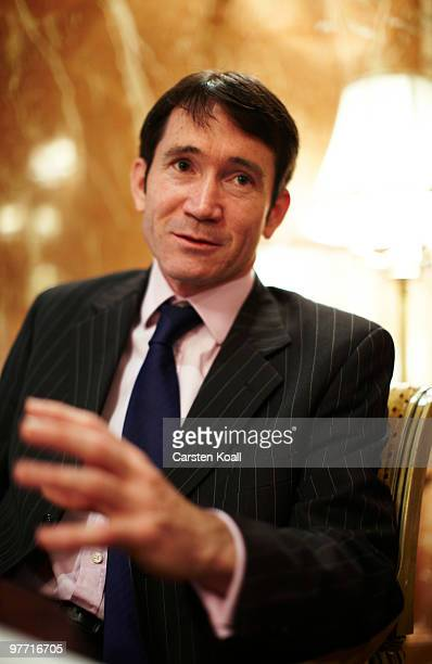 Gavin Halliday, Area General Manager Europe for British Airways , gestures during an interview on March 12, 2010 in Berlin, Germany.