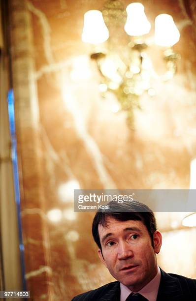 Gavin Halliday, Area General Manager Europe for British Airways , looks on during an interview on March 12, 2010 in Berlin, Germany.