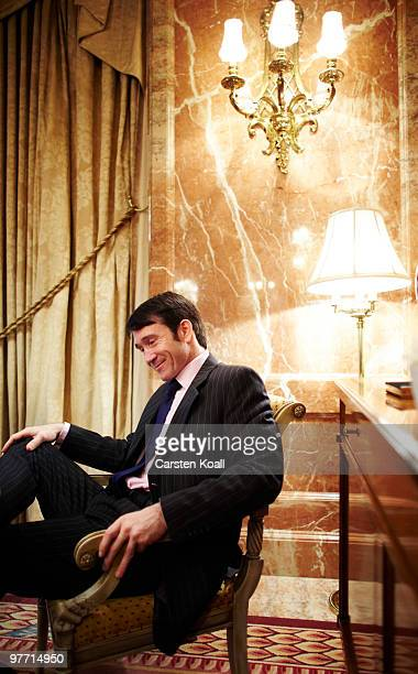 Gavin Halliday, Area General Manager Europe for British Airways , smiles during an interview on March 12, 2010 in Berlin, Germany.