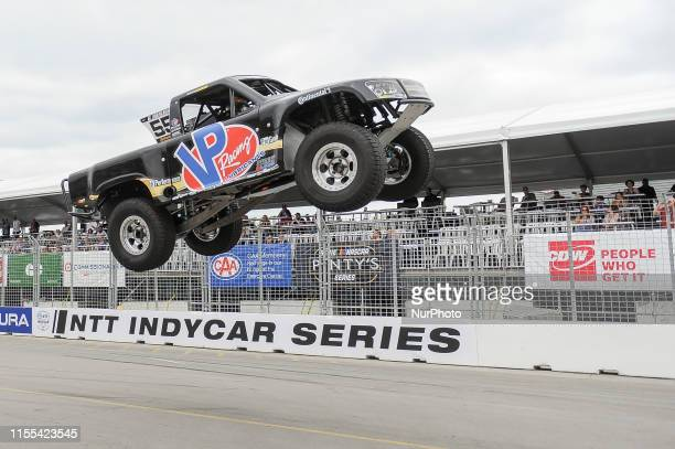Gavin Harlienfrom Mesa, Arizona, USA on the race during the SPEED Energy Stadium SUPER Trucks race on July 12 the first day of the Honda Indy in...