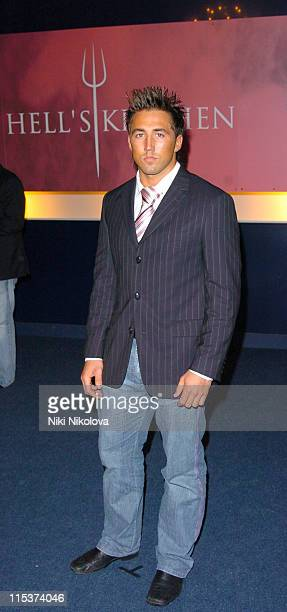 Gavin Henson during 'Hell's Kitchen 2' Day 11 Arrivals at Brick Lane in London Great Britain