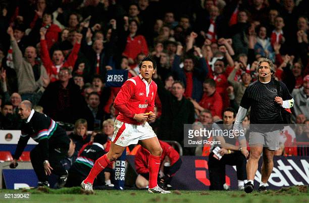 Gavin Henson of Wales watches on as his penalty kick wins the the RBS Six Nations International between Wales and England at The Millennium Stadium...