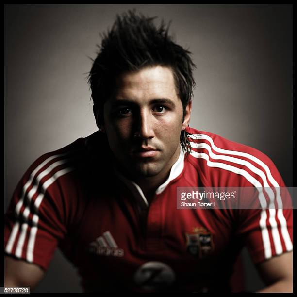 Gavin Henson pictured during the British and Irish Lions Squad Photocall for the 2005 Tour to New Zealand on April 18 2005 in Cardiff Wales