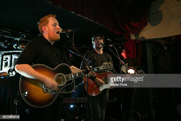 Gavin James performs with Danny O'Reilly at Whelan's on December 22, 2015 in Dublin, Ireland.