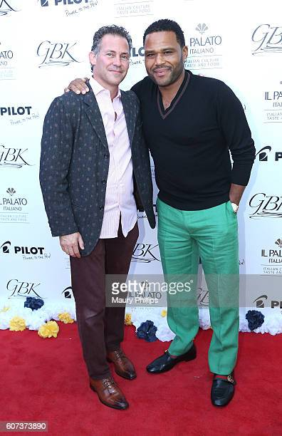 Gavin Keilly and actor Anthony Anderson attend PILOT PEN & GBK's Pre-Emmy Luxury Lounge - Day 2 at L'Ermitage Beverly Hills Hotel on September 17,...