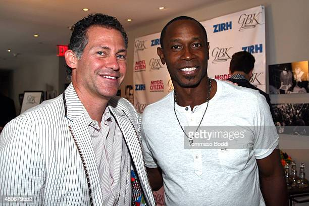 Gavin Keilly and baseball player Kenny Lofton attends the GBK PreESPY lounge held at the Andaz Hotel on July 13 2015 in Los Angeles California