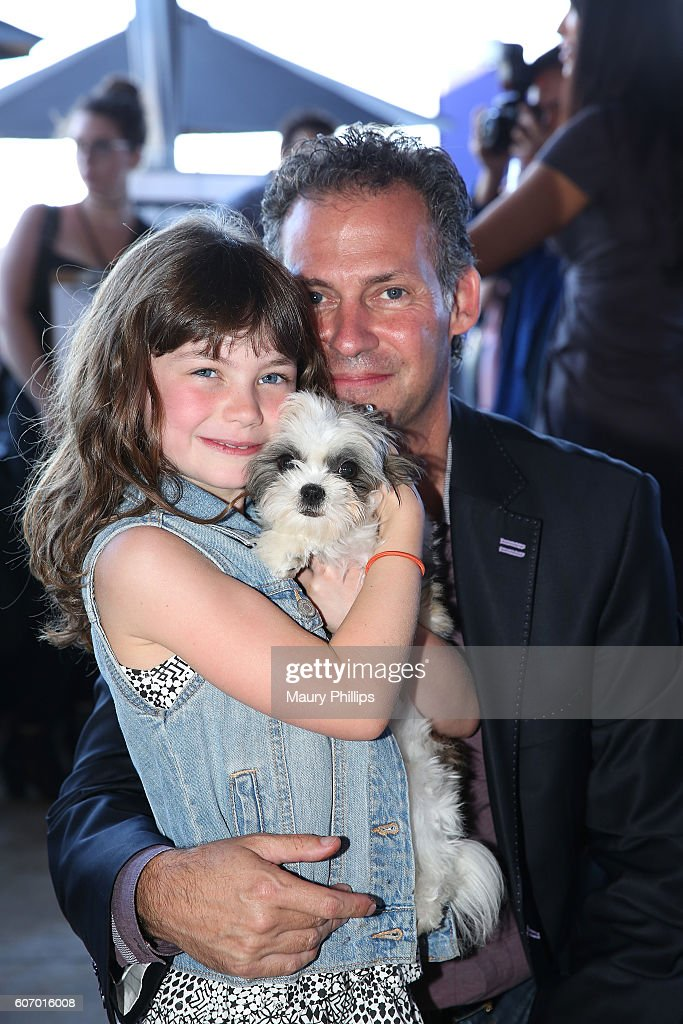 Gavin Keilly (R) and his daughter Morgan Keilly attend PILOT PEN & GBK's Pre-Emmy Luxury Lounge - Day 1 at L'Ermitage Beverly Hills Hotel on September 16, 2016 in Beverly Hills, California.