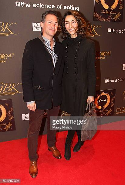Gavin Keilly and Necar Zadegan attend GBK Pilot Pen Golden Globes 2016 Luxury Lounge Day 2 at W Hollywood on January 9 2016 in Hollywood California