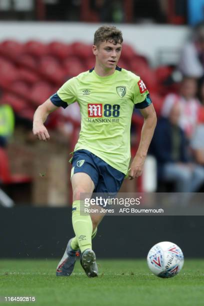 Gavin Kilkenny of Bournemouth during the Pre-Season Friendly match between Brentford and AFC Bournemouth at Griffin Park on July 27, 2019 in...
