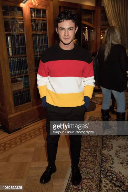 Gavin Leatherwood attends the special preview of Netflix's original series 'Chilling Adventures of Sabrina' at the Spellman House in October 27 2018...