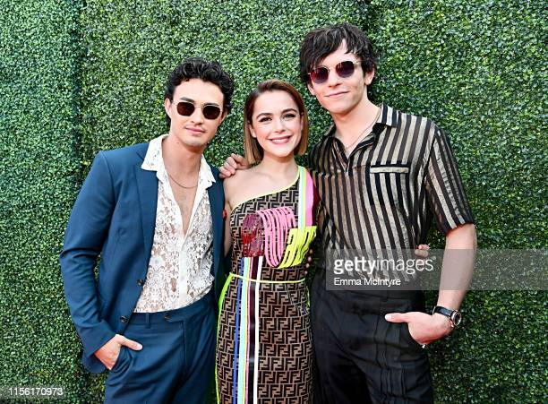 Gavin Leatherwood Kiernan Shipka and Ross Lynch attend the 2019 MTV Movie and TV Awards at Barker Hangar on June 15 2019 in Santa Monica California