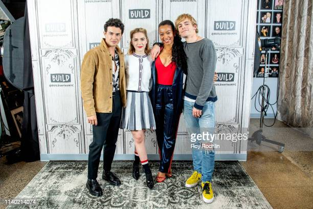 Gavin Leatherwood Kiernan Shipka Jaz Sinclair and Ross Lynch discuss Chilling Adventures of Sabrina with the Build Series at Build Studio on April 03...