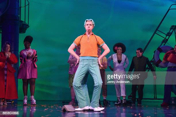 Gavin Lee poses onstage during opening night of Nickelodeon's SpongeBob SquarePants The Broadway Musical at Palace Theatre on December 4 2017 in New...