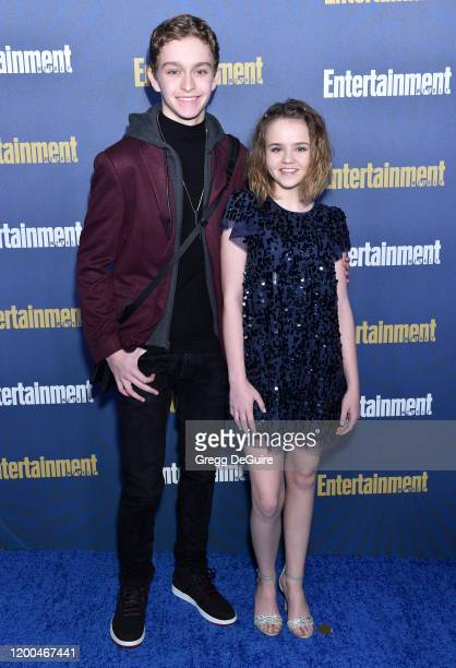 Gavin Lewis and Megan Stott attend the Entertainment Weekly PreSAG Celebration at Chateau Marmont on January 18 2020 in Los Angeles California