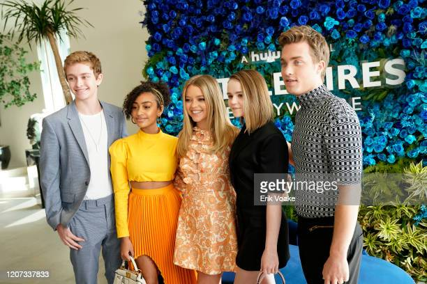 Gavin Lewis Lexi Underwood Jade Pettyjohn Megan Stott and Jordan Elsass attend Hulu Little Fires Everywhere Press Brunch at ROSS HOUSE on February 19...