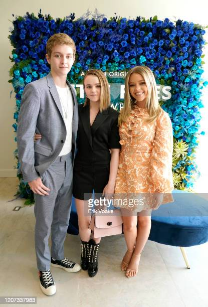 Gavin Lewis Megan Stott and Jade Pettyjohn attend Hulu Little Fires Everywhere Press Brunch at ROSS HOUSE on February 19 2020 in Los Angeles...