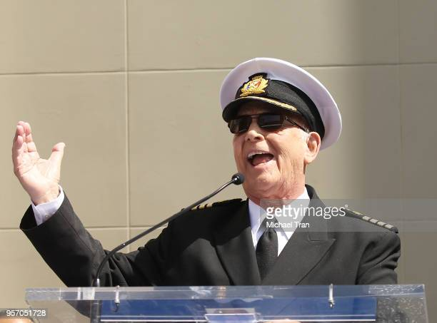 Gavin MacLeod attends the Princess Cruises and the original cast of 'The Love Boat' receive a Friend of the Hollywood Walk of Fame honorary Star...