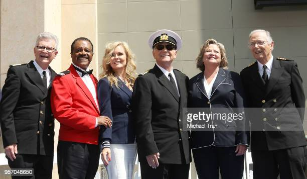 """Gavin MacLeod, Jill Whelan, Ted Lange, Bernie Kopell, Lauren Tewes and Fred Grandy attend the Princess Cruises and the original cast of """"The Love..."""
