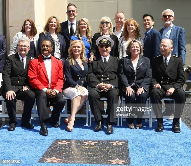 Gavin MacLeod Jill Whelan Ted Lange Bernie Kopell Lauren Tewes Fred Grandy and Princess Cruises executives attend the Princess Cruises and the...