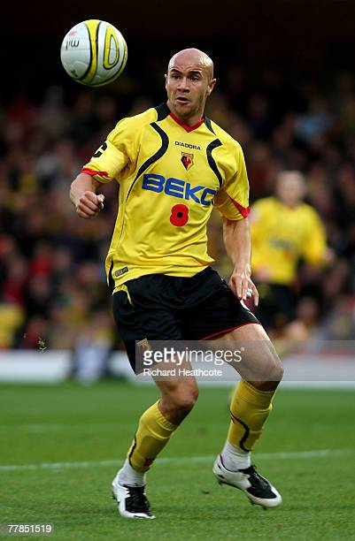 Gavin Mahon of Watford during the CocaCola Championship match between Watford and Colchester United at Vicarage Road on November 10 2007 in Watford...