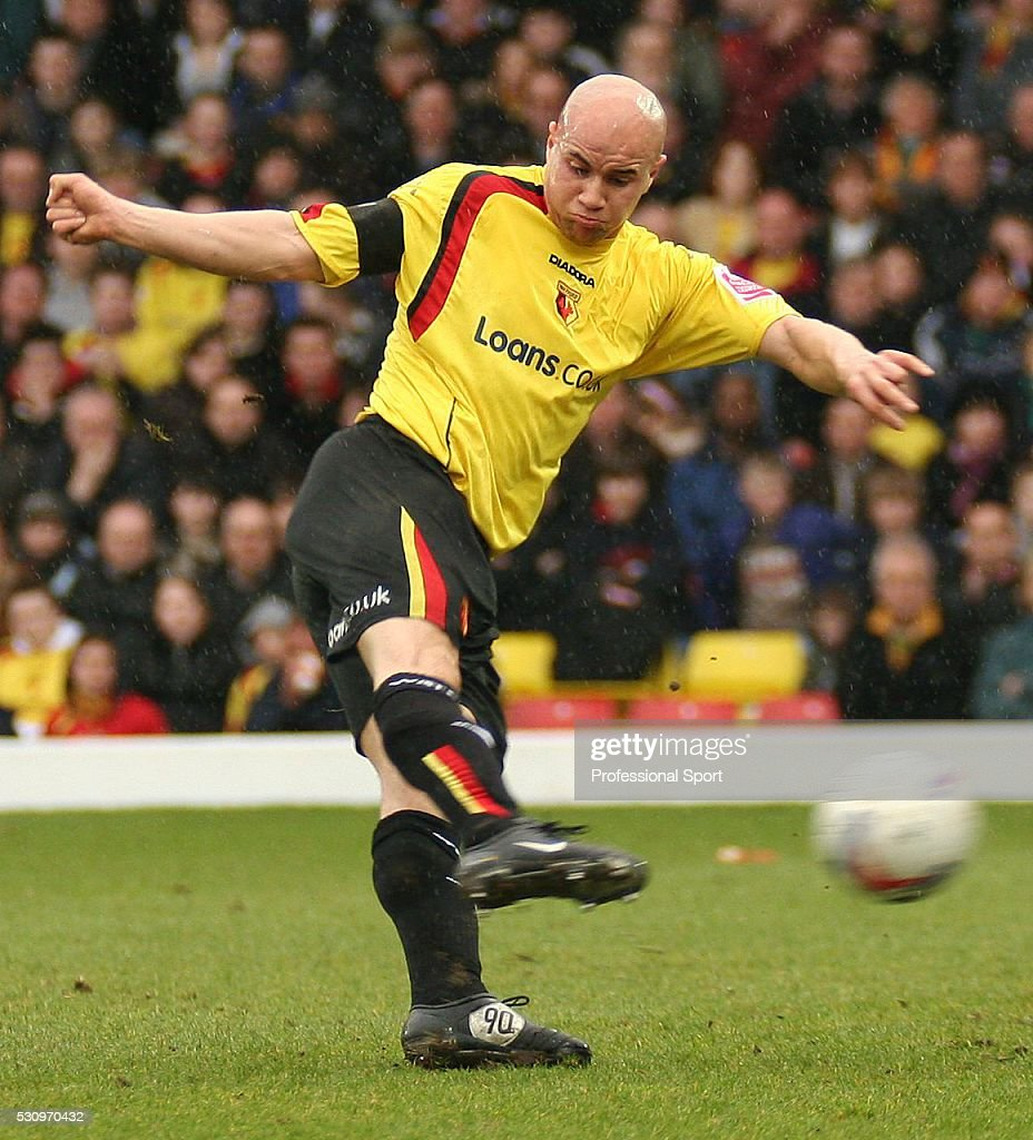 Gavin Mahon of Watford in action during the Coca-Cola Championship match against Millwall at Vicarage Road on 25th March 2006. Millwall won 2-0.