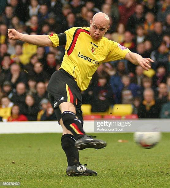 Gavin Mahon of Watford in action during the CocaCola Championship match against Millwall at Vicarage Road on 25th March 2006 Millwall won 20