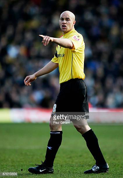 Gavin Mahon of Watford in action during the CocaCola Championship match between Watford and Derby County at Vicarage Road on March 4 2006 in Watford...
