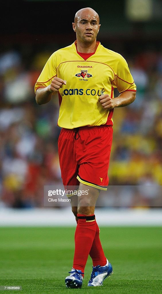 Gavin Mahon of Watford in action during the friendly match between Watford and Inter Milan at Vicarage Road on August 8, 2006, in Watford, England.