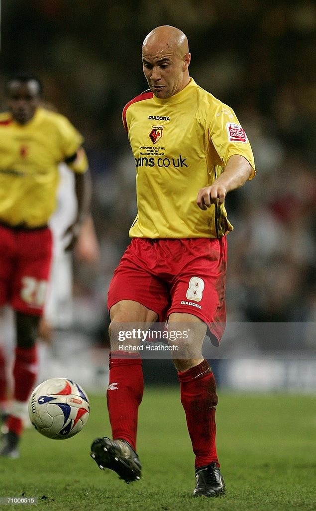 Gavin Mahon the Watford Captain controls the ball during the Coca-Cola Championship Playoff Final between Leeds United and Watford at the Millennium Stadium on May 21, 2006 in Cardiff, Wales.