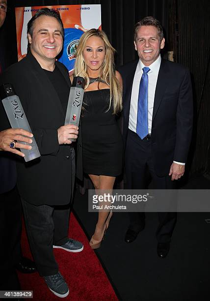 """Gavin Maloof, Adrienne Maloof and Joe Maloof attend the """"Dumbbells"""" premiere at SupperClub Los Angeles on January 7, 2014 in Los Angeles, California."""