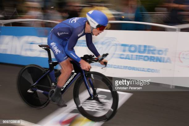 Gavin Mannion of the United States riding for Team United Healthcare Pro Cycling rides from the start during stage four of the 13th Amgen Tour of...
