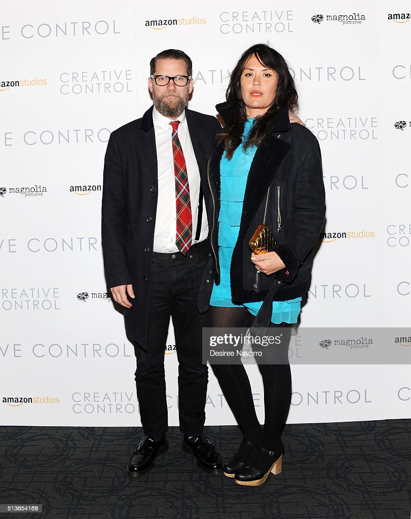 gavin mcinnes with his wife emily attend the creative control new