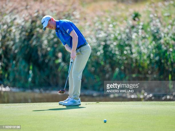 Gavin Moynihan from Ireland in action on ball 34 during the PGA European Tour golf tournament Scandinavian Invitation at Hills Golf and Sports Club...