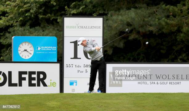 Gavin Moynihan of Ireland during the second round of the 2017 Irish Challenge at Mount Wolseley Hotel Spa and Golf Resort on September 15 2017 in...